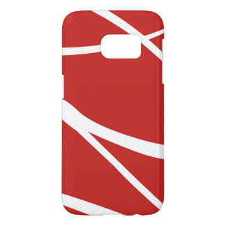 Modern Red And White Geometric