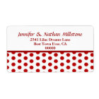 Modern Red and White Polka Dots