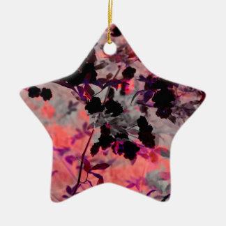 Modern red black flower asian style design art ceramic star decoration