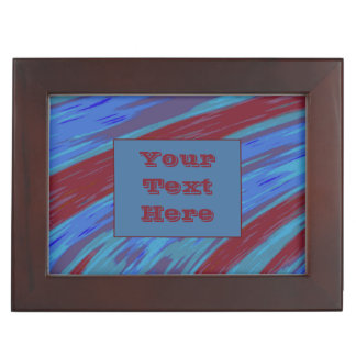 Modern Red Blue Color Swish Memory Box