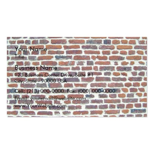 Modern Red Brick Wall And White Line Texture Business Card Templates