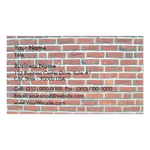 Modern Red Brick Wall And White Line Texture Business Card