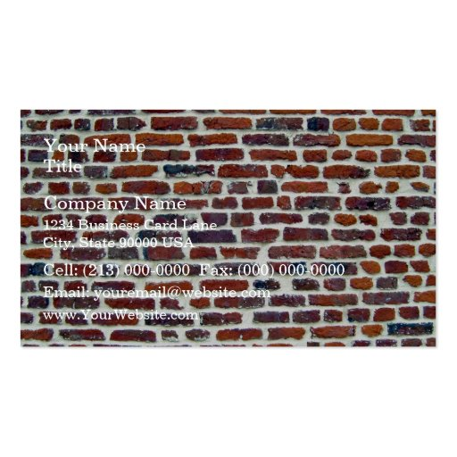 Modern Red Brick Wall And White Line Texture Business Cards