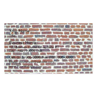 Modern Red Brick Wall And White Line Texture Pack Of Standard Business Cards