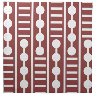 Modern Red Circles And Lines Napkin