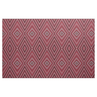 Modern Red Diamond Design Fabric