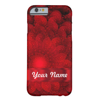 Modern red fractal abstract barely there iPhone 6 case