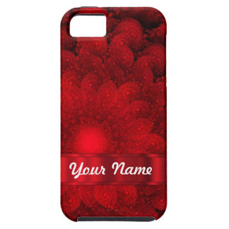 Modern red fractal abstract iPhone 5 cases
