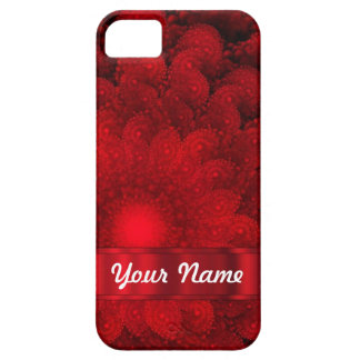 Modern red fractal abstract iPhone 5 cover