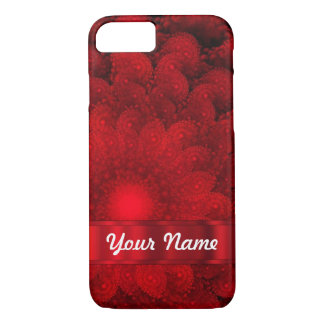 Modern red fractal abstract iPhone 8/7 case