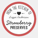 Modern Red From the Kitchen of Label Round Sticker