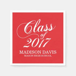 Modern Red   Graduation Napkins Paper Napkins