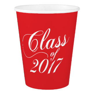 Modern Red | Graduation Paper Cup