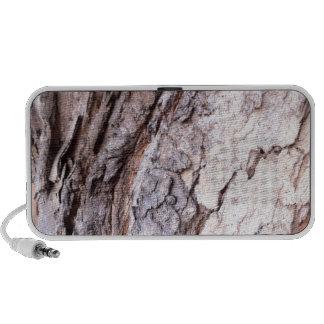 Modern Red Gumtree bark design Laptop Speakers