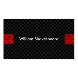 Modern Red Highlights with Dark Squares Background Pack Of Standard Business Cards