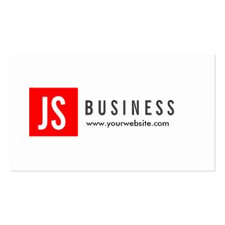 Modern Red Logo Stock Broker Business Card