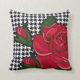 Modern Red Rose Pillow Style 2