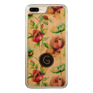 Modern Red Roses Waterloos Illustration Carved iPhone 7 Plus Case