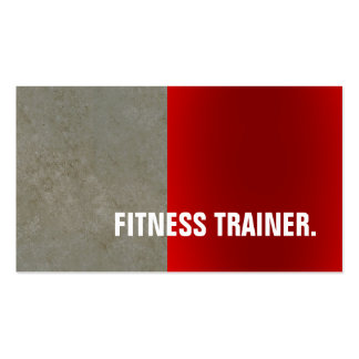 Modern Red Stone Wall Grey Fitness Trainer Pack Of Standard Business Cards