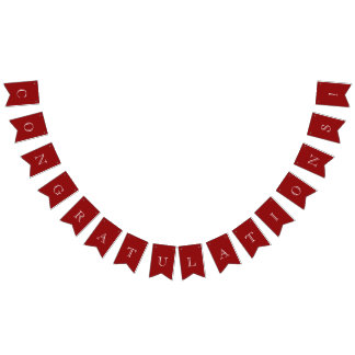 Modern Red & White Congratulations Bunting