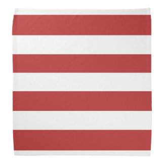 Modern Red White Stripes Pattern Bandana