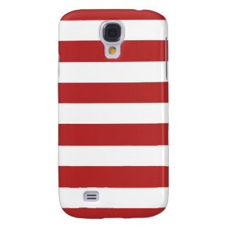 Modern Red White Stripes Pattern Galaxy S4 Case