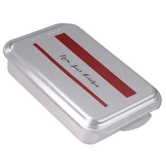 Modern Red White Stripes PatternModern red and whi Cake Pan