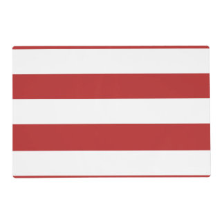 Modern Red White Stripes PatternModern red and whi Laminated Placemat