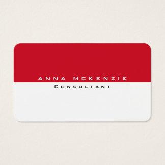 Modern Red White Unique Trendy Creative