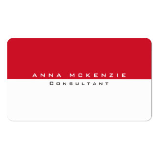 Modern Red White Unique Trendy Creative Pack Of Standard Business Cards
