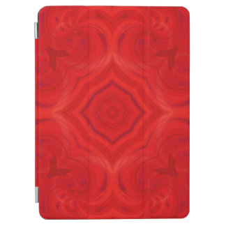 Modern red wood pattern iPad air cover