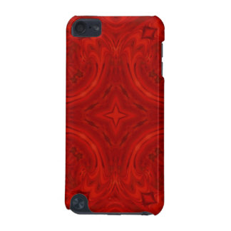 Modern Red wood Pattern iPod Touch (5th Generation) Case