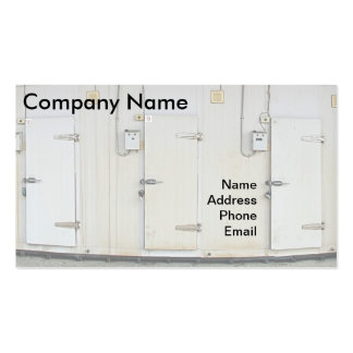 Modern Refrigeration and Freezer Storage Facility Pack Of Standard Business Cards