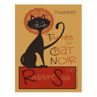 Modern Remake of Le Chat Noir Black Cat Postcard