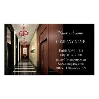 Modern Renovation Carpentry interior designer Business Cards