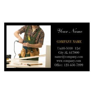 Modern Renovation Handyman Carpentry carpenter Pack Of Standard Business Cards
