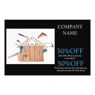Modern Renovation Handyman Carpentry Construction 14 Cm X 21.5 Cm Flyer