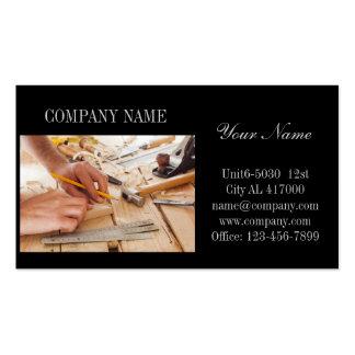 Modern Renovation Handyman Carpentry Construction Business Card Templates