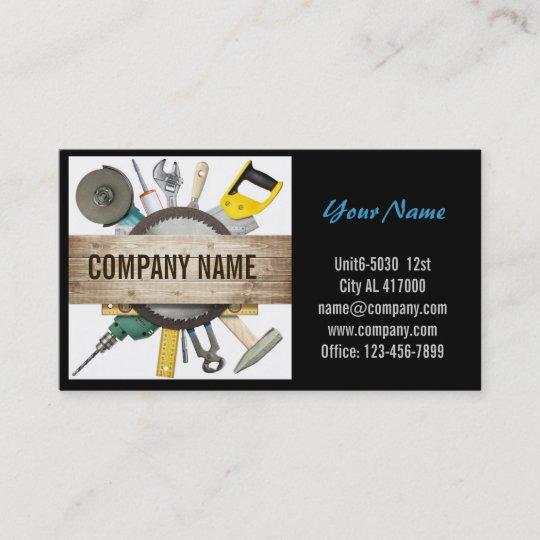 Modern renovation handyman carpentry construction business card modern renovation handyman carpentry construction business card reheart Gallery