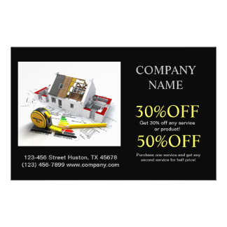 Modern Renovation Handyman Carpentry Construction Full Color Flyer