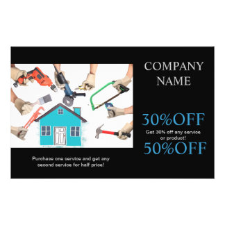 Modern Renovation Handyman Carpentry Construction Flyer