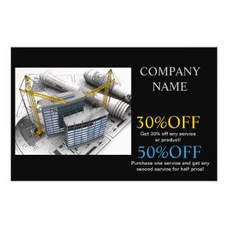 Modern Renovation Handyman Carpentry Construction Custom Flyer