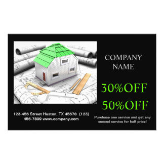 Modern Renovation Handyman Carpentry Construction Personalized Flyer