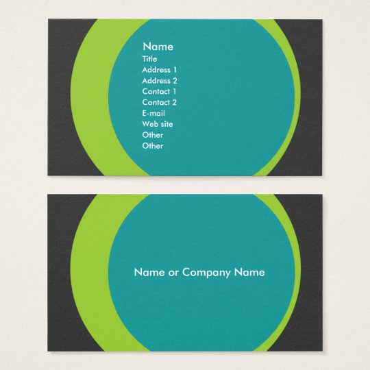 Modern Retro Business/Networking Profile Card