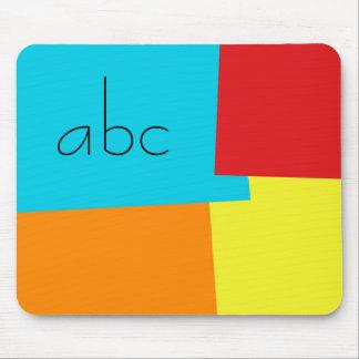 Modern Retro Color Geometric Pattern Monogram #4 Mouse Pad