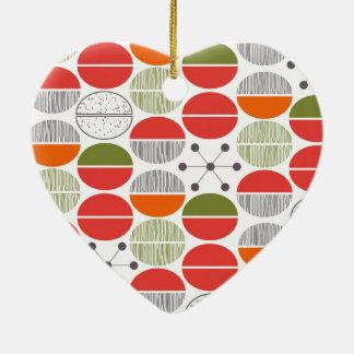 Modern Retro Geometric Polka Dots Christmas Tree Ornaments