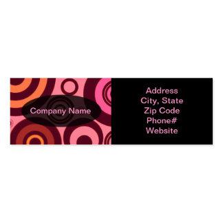 Modern Retro Pattern Business Card Template