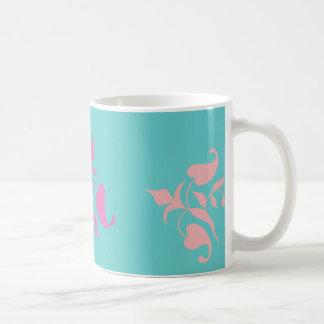 Modern Retro Pink Vines Coffee Mug