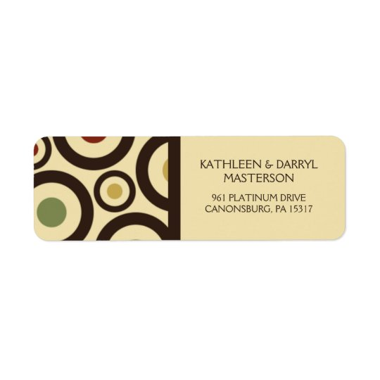 Modern Retro Polka Dot Custom Return Address Label
