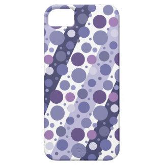 Modern Retro Purple Polka Dot Fun iPhone 5 Case